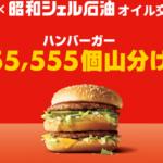 マックと昭和シェル石油が初コラボ!昭和シェルでハンバーガー55,555個とコーヒークーポンをドライブでゲットせよ!